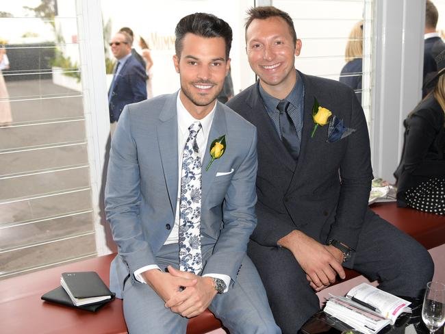 Ian Thorpe, with Ryan Channing at the Melbourne Cup, says he feels reassured.