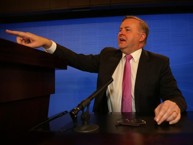 Anthony Albanese has hit out at Malcolm Turnbull's proposed plan as he suggested the same thing as the National Press Club in 2014. Picture: Gary Ramage.