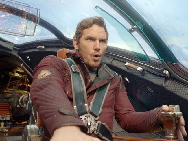 "The role of Peter Quill is ""Han-Solo-meets-Indiana-Jones-meets-Yogi-Bear"". Picture: AP"
