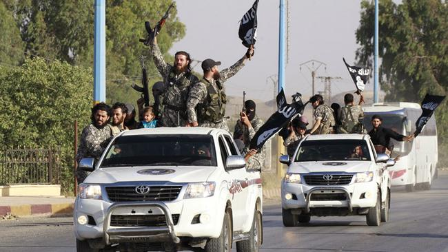Worrying...ISIS militants have been moving easily between Iraq and Syria. Picture: Reuters/Stringer