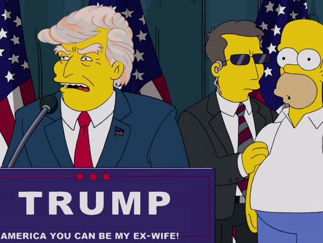 The Simpsons predicted Donald Trump would become US president back in 2000. Picture: Supplied