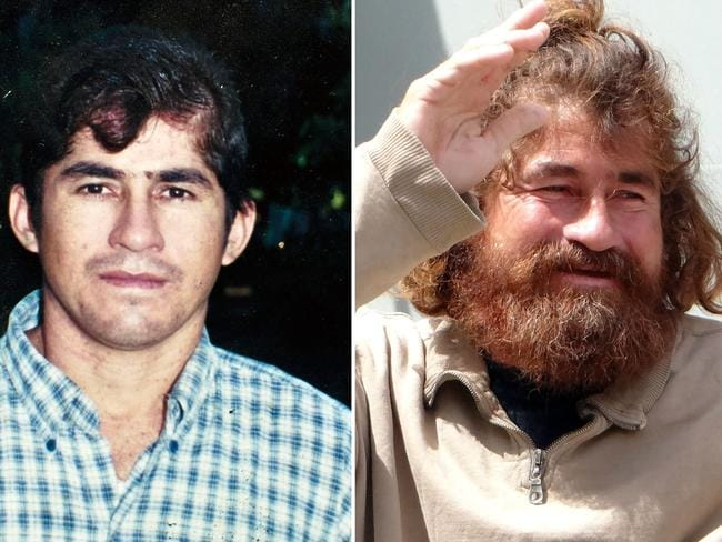 Before and after ... an undated file picture of Salvadorean castaway Jose Salvador Alvarenga before (left) setting sail and after (right) he was rescued in Majuro following a 22-hour boat ride from isolated Ebon Atoll. Picture: AFP/Jose Cabezas — Hilary Hosia
