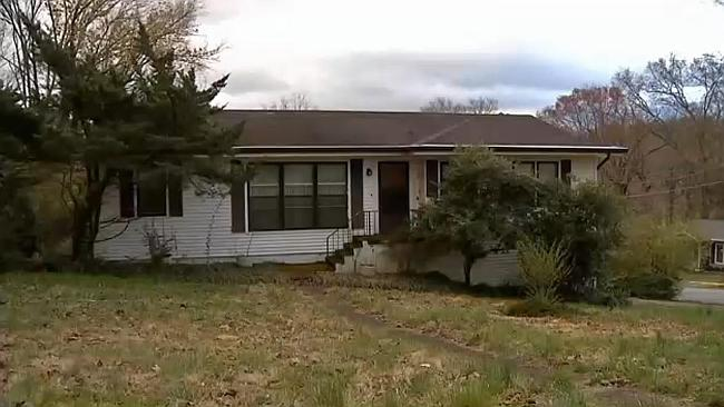 Been dead for three years ... Identical twins Andrew and Anthony Johnson's home in Chatta