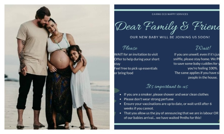 QLD mum-to-be posts very specific list of demands to meet her baby