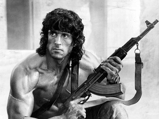 Sylvester Stallone owns the screen in Rambo III