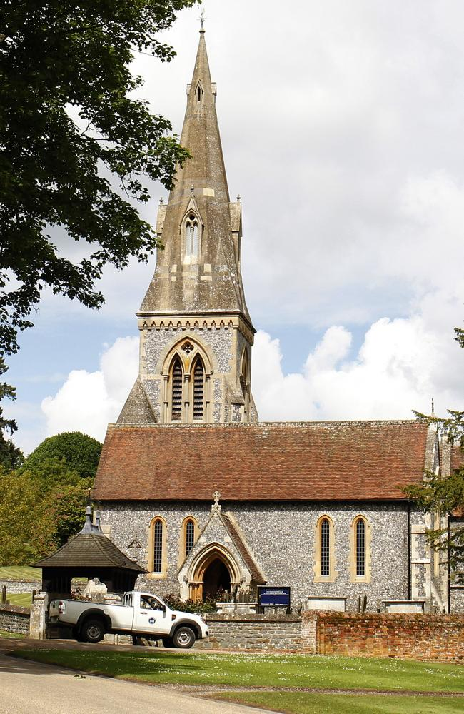 St Mark's Church in Englefield, Berkshire, will be overflowing with wedding guests, royal watchers and the media when Pippa Middleton and James Matthews are married. Picture: Neil P. Mockford.