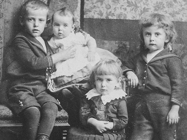 The price of war ... Baby Lottie Smith with brothers Herbert, Frederick and Alfred. Picture: Nick Hooper