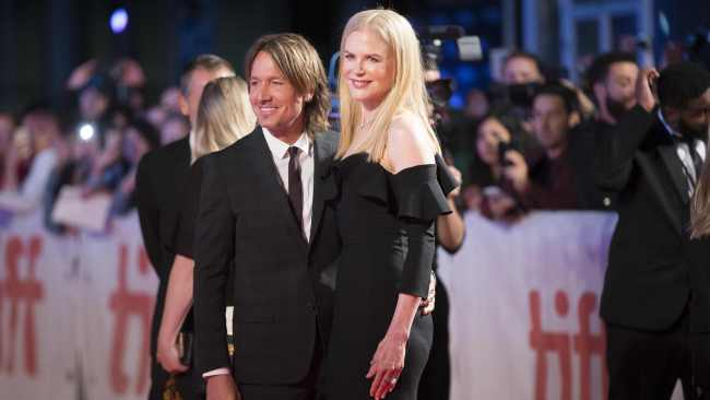 "Nicole Kidman and her husband Keith Urban pose for photographers on the red carpet for the premier of ""The Upside"" at the Toronto International Film Festival in Toronto, Ontario, September 8, 2017. Photo: AFP"