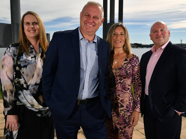 Ryde Councillor Roy Maggio (2nd left) with his election team (L-R) Janine Ligato, Lina Candy and Amos Anastasiadis. Pic: AAP Image/Joel Carrett
