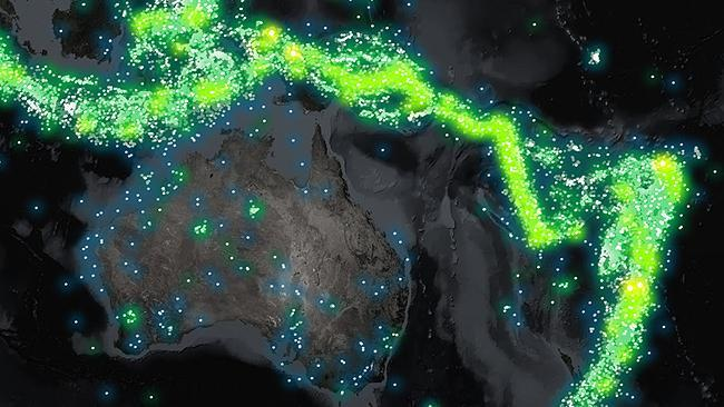 Amazing map shows a century of earthquakes mapped at a glance fiery neighbours australia is seismically quiet compared to indonesia papua new guinea and new zealand our biggest recorded earthquake was a 72 gumiabroncs Images