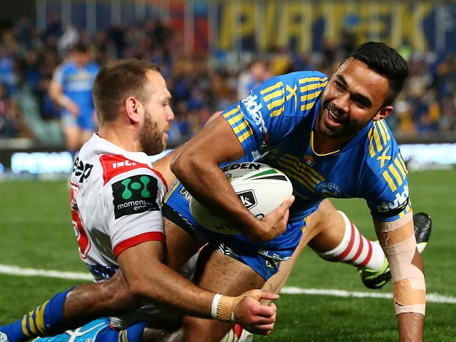 Eels farewell historic stadium with hat-trick
