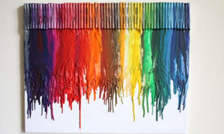 Create an impressive melted crayon artwork