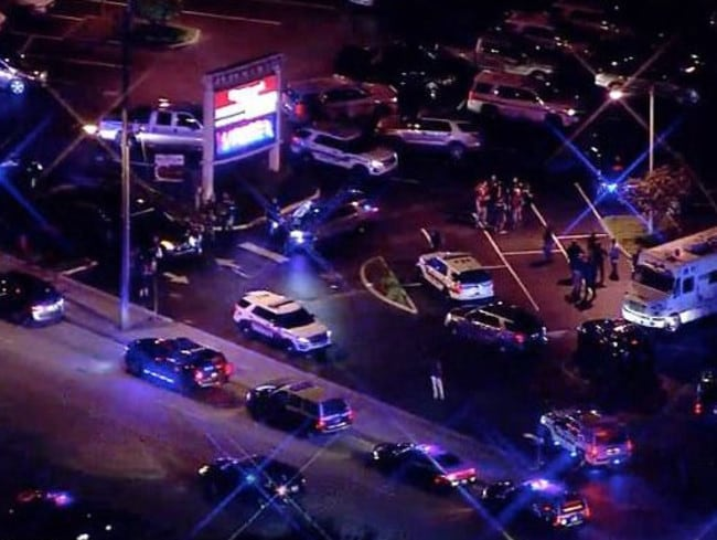 Another Kissimmee police officer was shot, as well as two other officers in nearby Jacksonville. Picture: Wesh2.