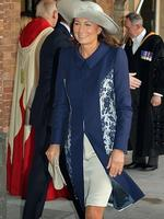 Grandmother of Prince George, Carole Middleton leaves the Chapel Royal. Picture: Getty