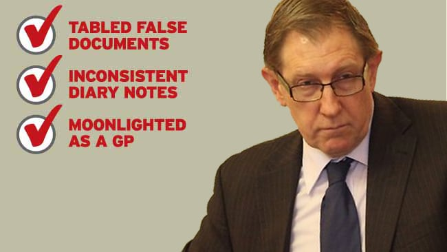 """After his former media advisor Graeme Hallett publicly aired allegations of misconduct, Housing Minister Bruce Flegg later told State Parliament not """"one shred of credible evidence"""" had been produced."""