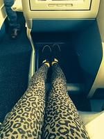 """Homeward Bound! Aussie model Shanina Shaik flying business all the way, """" Here I come Australia."""" Picture: Instagram"""