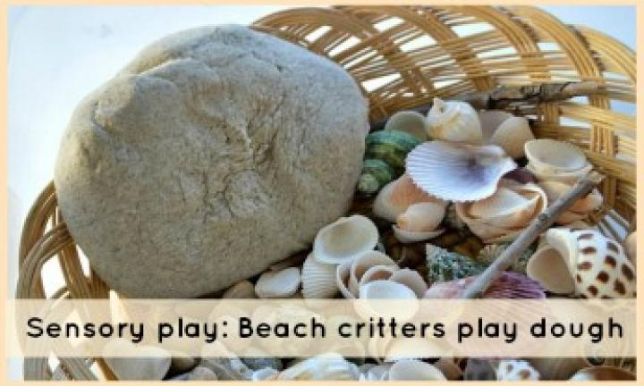 Sensory play: Beach critters play dough