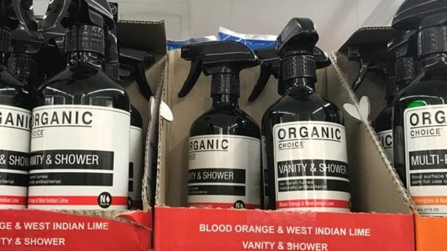 The Organic Choice cleaning products sold in Coles supermarkets.