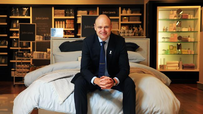 Myer chief Richard Umbers is overseeing a five-year turnaround program at the chain. Picture: Aaron Francis.