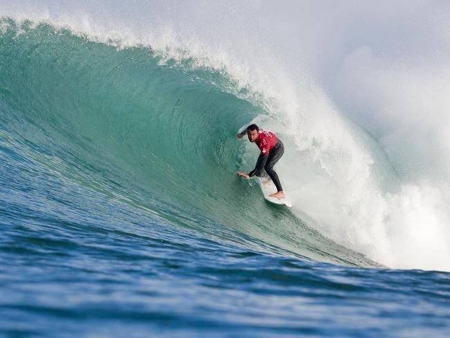 Joel Parkinson placed second to Mick Fanning in the J-Bay Open Final at Supertubes in Jeffreys Bay.