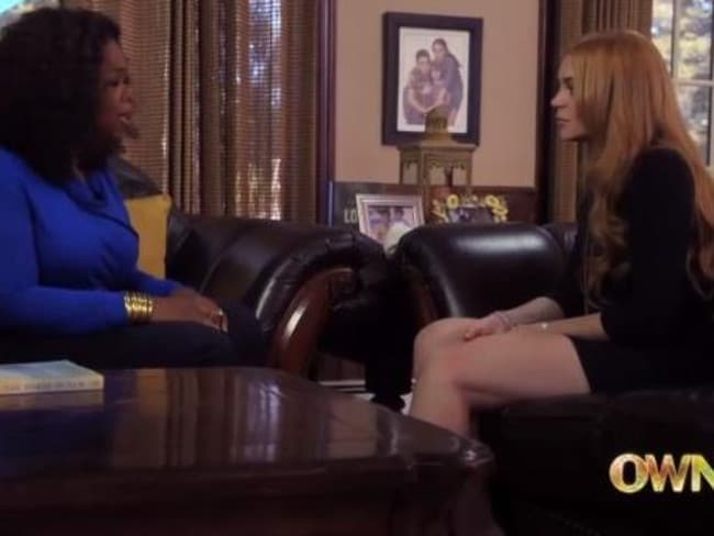 In this scene from her reality series, Oprah told Lohan that she needed to 'cut the bulls**t'.