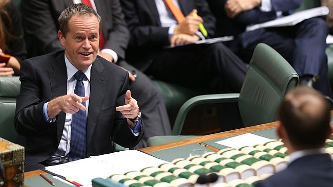 Opposition Bill Shorten and Prime Minister Tony Abbott during Question Time in the House
