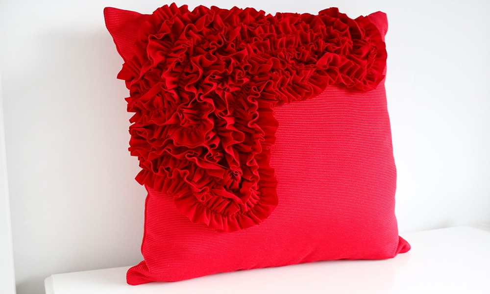 Make a quick and affordable ruffle cushion