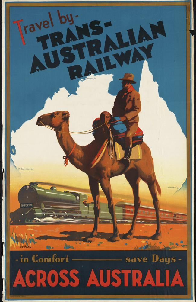 In 1930, Australians were introduced to a speedier travel option than a camel. Picture: OldSchoolAds