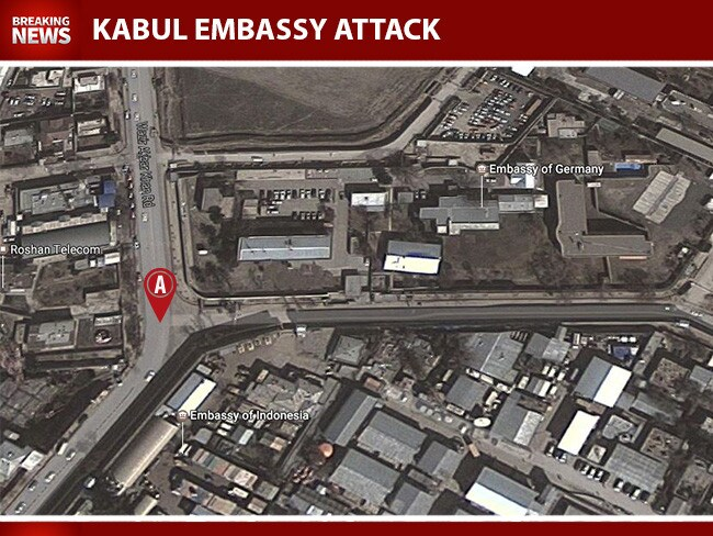 Blast From Suicide Car Bomber Strikes Embassies In Kabul Afghanistan - Us embassy attacks map