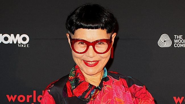 Fashion designer Jenny Kee is known for her big, bold prints.