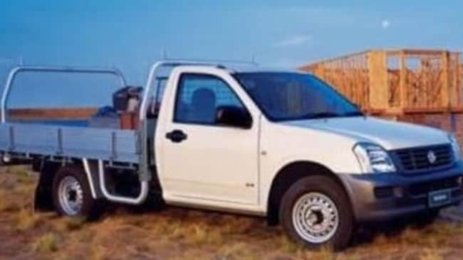 Police released an image of a car similar to Alan Potter's white Holden Rodeo, which has registration SUC 870. Picture: Victoria Police