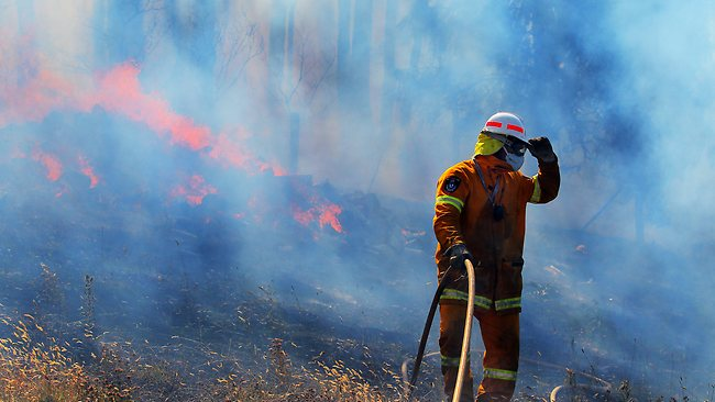 A major bush fire swept through Copping and Dunalley in South East Tasmania. Picture: Richard Jupe
