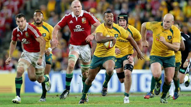 Kurtley Beale shapes as a flyhalf option for the Wallabies.