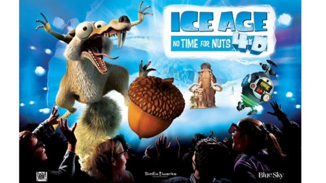 Win Tickets To Ice Age No Time For Nuts 4 D At Sea Life