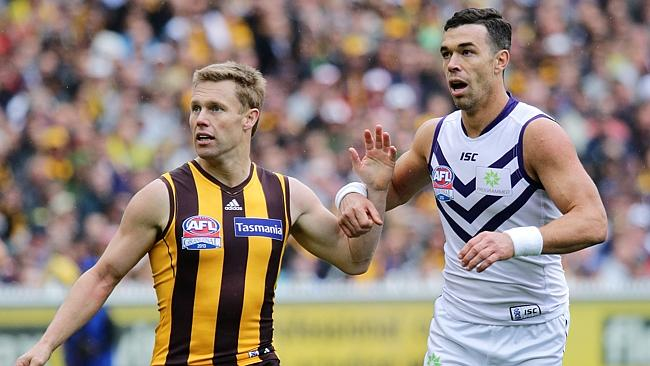 Sam Mitchell is likely to run into nemesis Ryan Crowley again in Round 3. Picture: George Salpigtidis