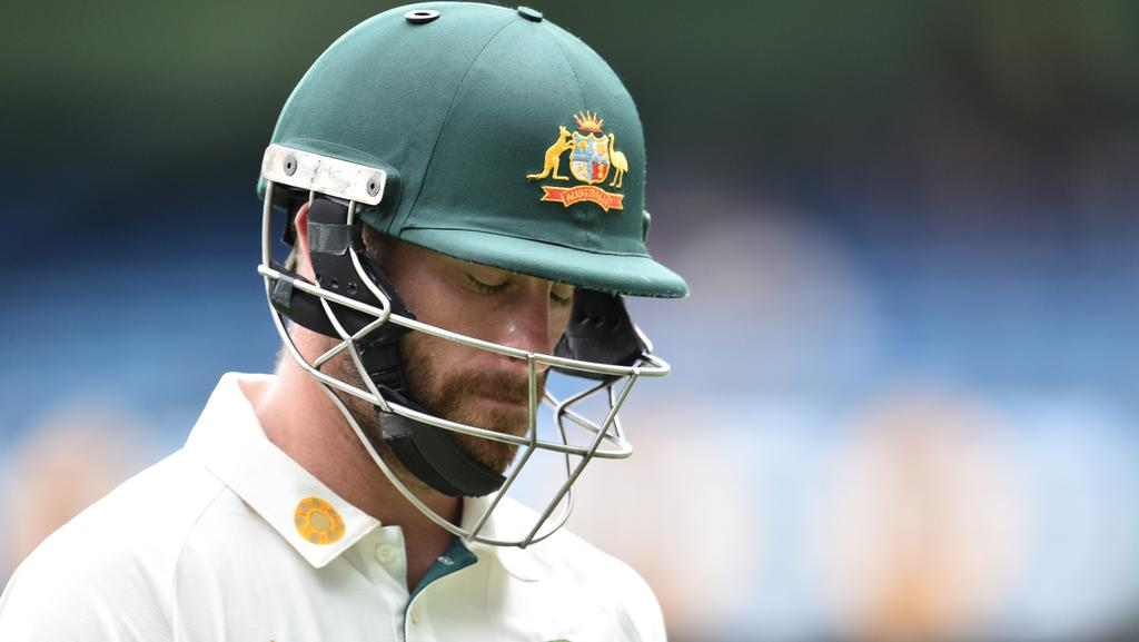 Matthew Wade trudges off after failing with the bat for Australia against Pakistan at the MCG. Picture: AAP