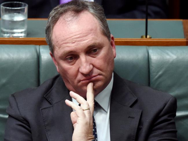Deputy PM Barnaby Joyce says he's under a tough campaign to keep his seat. Picture: AAP/Lukas Coch
