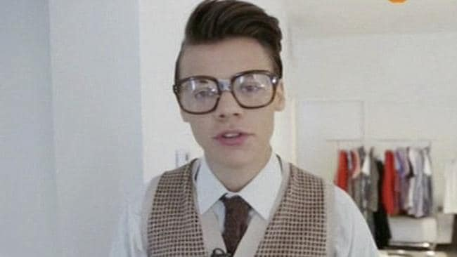 Harry Styles as the ultimate nerd. Picture: Supplied