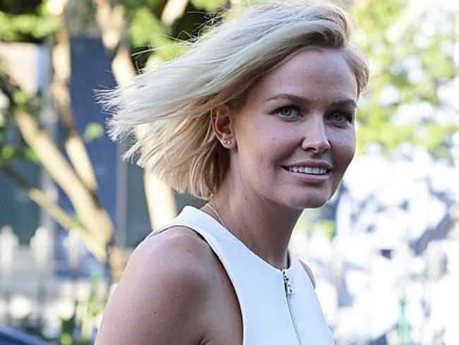 Emerging ... Lara Bingle posts the first pic of herself on Instagram since giving birth. Picture: Getty Images