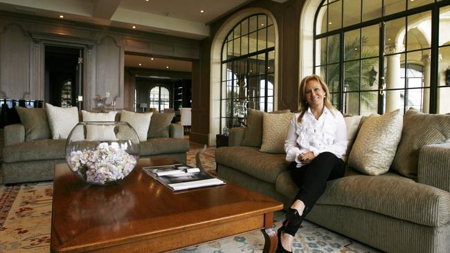 Julia Ross at her home in Point Piper back in 2009.