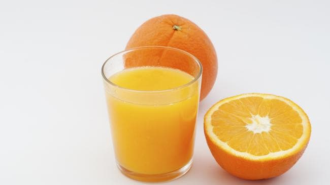 Brushing your teeth straight after drinking a glass of orange juice at breakfast can abrade the tooth enamel. Picture Thinkstock