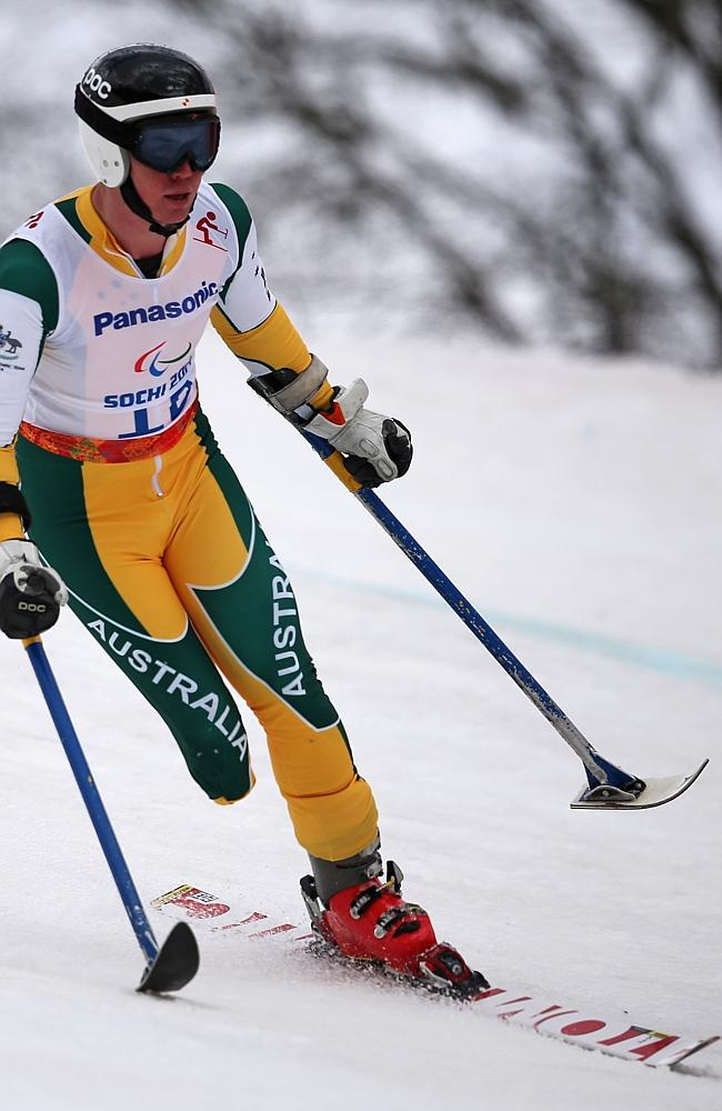 Kane was making good speed in the 1.8km Super G before losing control and crashing out.