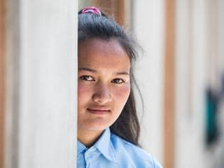 7 April 2017 - Bhusapheda, Dolakha, Nepal. Manju, 14. Manju will move from a wooden hut up the hill to a new concrete school next month. Must credit: Plan International/Vincent Tremeau