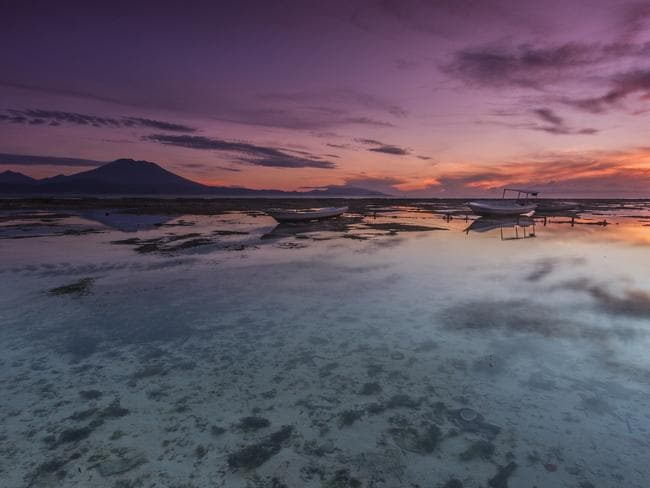 Low tide sunrise by the sea in Nusa Lembongan, Bali. Picture: iStock