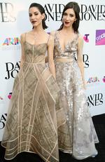 The Veronicas (Jess and Lisa Origliasso) pictured arriving on the red carpet at the 2015 ARIA Awards held at The Star in Pyrmont, Sydney. Picture: Richard Dobson