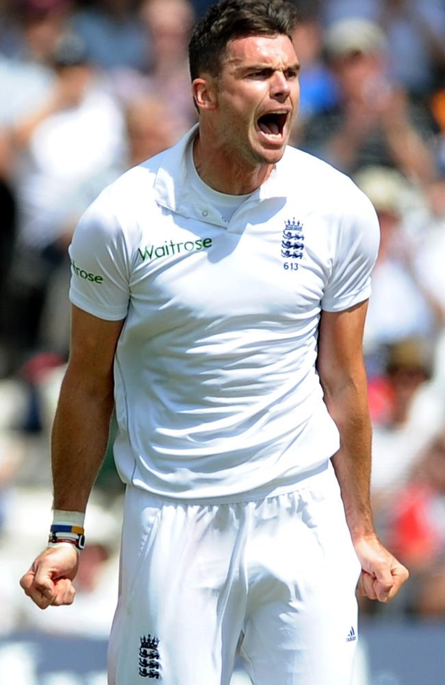 Jimmy Anderson got two of the four wickets to fall.
