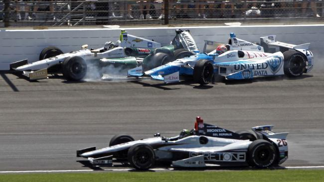 Carpenter was left fuming after his crash with Hinchcliffe.