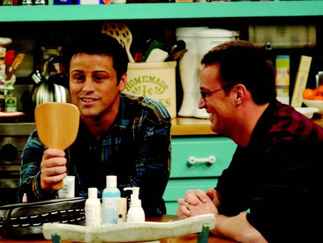 On-screen besties ... Matt LeBlanc and Matthew Perry in Friends. Picture: Supplied