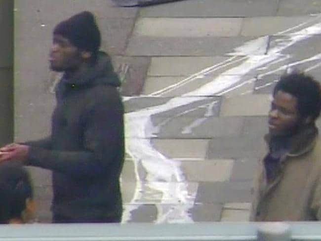 The two men who killed a soldier outside the barracks in Woolwich last year. AFP PHOTO