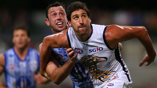 Eagle Dean Cox will miss match against Gold Coast with soreness. Picture: Getty